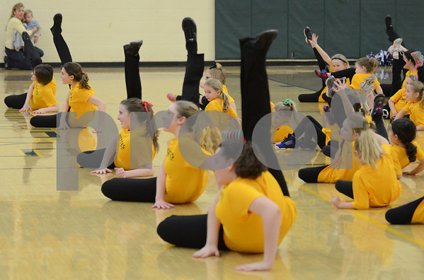 Flyerettes at half-time 1/29/13