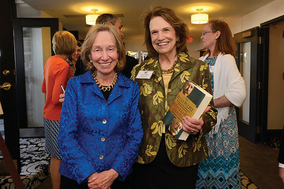 Historian Doris Kearns Goodwin and guest Judy Avery at an American Ancestors/NEHGS author event