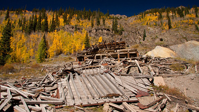 Old mining camp leveled by a landslide.