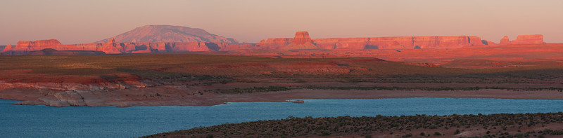 Panoramic View at Sunset Near Wahweap in Glen Canyon NRA.