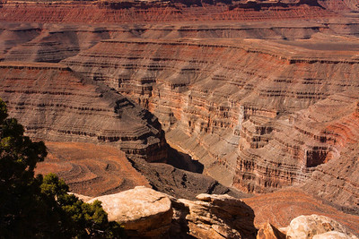 A View of Canyons Carved by the San Juan River Over Millions of Years