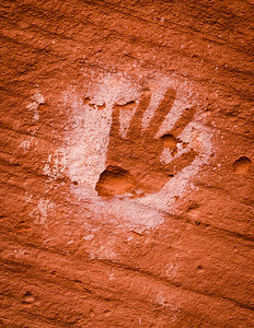 The ancient sites in Mystery Valley are replete with petroglyphs and pictographs.  Many are in mint condition while others have been damaged.  Hands are prominently featured.