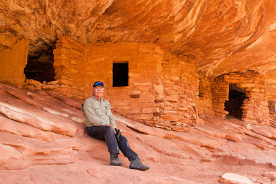 """Charlie at """"House on Fire"""" in Mule Canyon"""