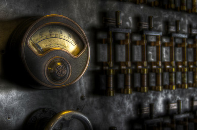 """""""Original 1903 Control Panel now on Museum-like Display in the Lobby"""""""