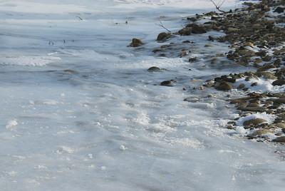 Frozen waves on the South Fork of the Koyukuk River