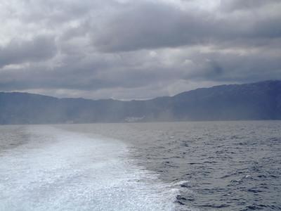 26 miles across the sea