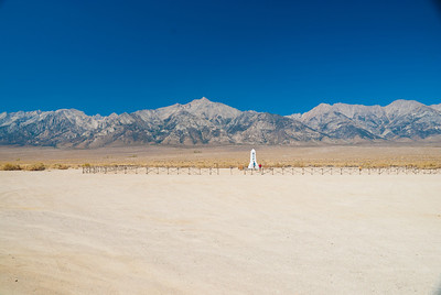 the cemetery at Manzanar, internment camp for Japanese families during WWII