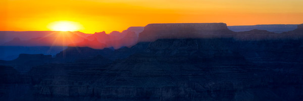 Grand Canyon Sunset Pano