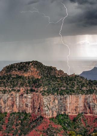 Grand Canyon North Rim Lightning