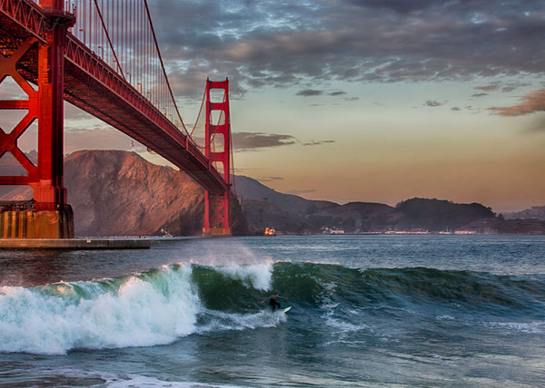 Surfing Under the Golden Gate