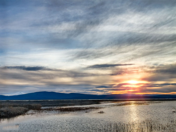 Lower Klamath Refuge Sunset
