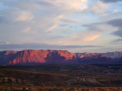 Sunrise over St George,Utah