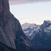 El Capitan and Half Dome in winter sunset