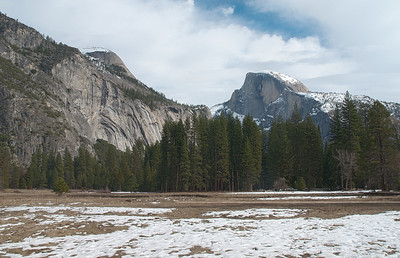Yosemite Valley with Half Dome;