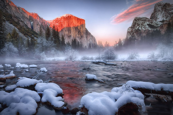 Yosemite Valley View Sunset