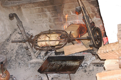 Cooking Pit at the Peyton Randolph House, Williamsburg, Virginia