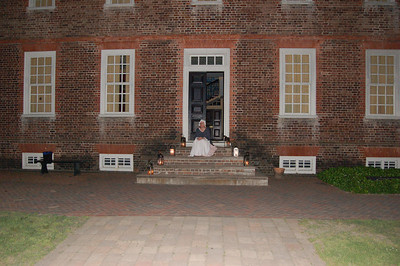 Colonial Williamsburg at night, Williamsburg, Virginia