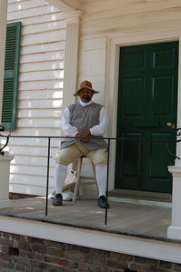 Outside the Getty House, Williamsburg, Virginia