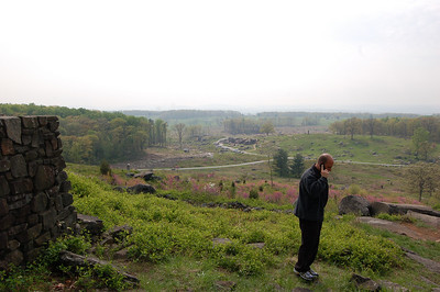 Tourist on Little Round Top, Gettysburg, Pennsylvania