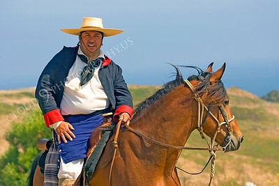 HR-EWSS 00005 A horse mounted early western Spanish settlor historical reenactor, by Peter J Mancus