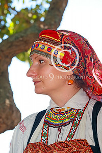 HR-FtRossRUSS 00009 A Ft Ross California colorfully dressed female civilian Russian settlor historical re-enactor picture by Peter J Mancus