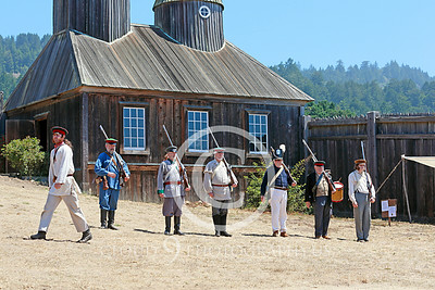 HR-FtRossRUSS 00004 Russian civilian militia historical re-enactors drill at Ft Ross California historical re-enactor picture by Peter J Mancus