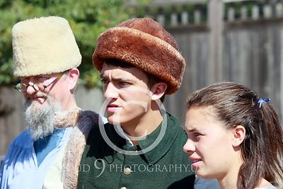 HR-FtRossRUSS 00006 Three standing civilian Ft Ross Russian historial re-enactors picture by Peter J Mancus