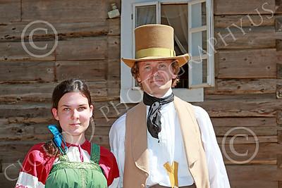HR-FtRossRUSS 00024 Two civilian Ft Ross Russian historial re-enactors picture by Peter J Mancus