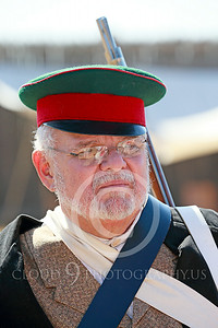 HR-FtRossRUSS 00031 A standing armed older male civilian militia Ft Ross California Russian settlor historical re-enactor picture by Peter J Mancus