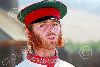 HR-FtRossRUSS 00008 Portrait of a Russian civilian militia leader historical re-enactor at Ft Ross California historial picture by Peter J Mancus