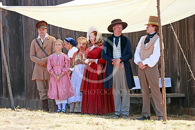 HR-FtRossRUSS 00002 Civilian Ft Ross Russian historial re-enactors under a covering for sun protection picture by Peter J Mancus