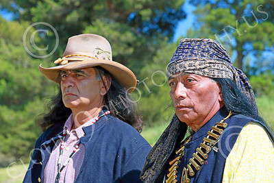 HR-USAIS 00032 Two standing western frontier US Army Indian scouts, historical re-enactor picture by Peter J Mancus