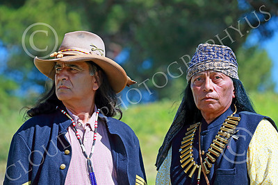 HR-USAIS 00004 Two convincing looking western frontier US Army Indian scouts, historical re-enactors picture by Peter J Mancus