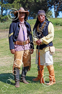 HR-USAIS 00025 Two standing western frontier US Army Indian scouts, historical re-enactors picture by Peter J Mancus