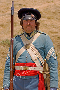 HR-USAMAWS 00001 An US Army Mexican-American War era soldier historical reenactor, by Peter J Mancus