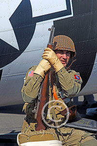 HR - USAWWIIP 00031 A US Army WWII era paratrooper historical reenactor by Peter J Mancus