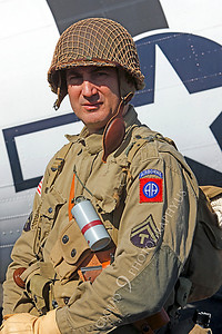 HR - USAWWIIP 00001 A US Army WWII era paratrooper historical reenactor by Peter J Mancus