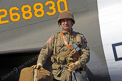 HR - USAWWIIP 00004 A US Army WWII era paratrooper historical reenactor by Peter J Mancus