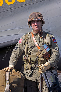 HR - USAWWIIP 00007 A US Army WWII era paratrooper historical reenactor by Peter J Mancus