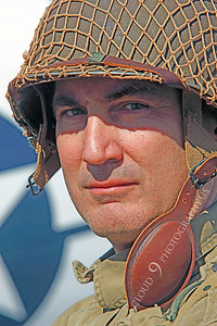 HR - USAWWIIP 00005 A US Army WWII era paratrooper historical reenactor by Peter J Mancus