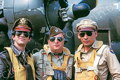 HR-USAAFWWIIAC 00002 US Army Air Force WWII aircrew -- part of a Boeing B-17 Flying Fortress heavy bomber crew, by Peter J Mancus