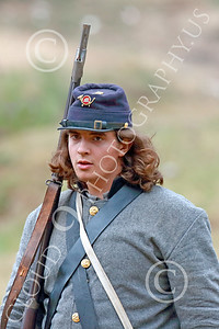 HR-ACWBS 00041 A long hair Reb on the battle line, historical re-enactor picture by Peter J Mancus