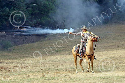 HR-ACWBS 00002 Camera captured a Reb calvaryman's impressive pistol blast, historical re-enactor picture by Peter J Mancus