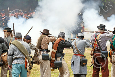 HR-ACWBS 00032 Face-to-face near point blank range combat required courage, historical re-enactor picture by Peter J Mancus