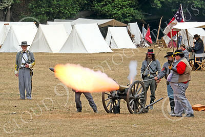 HR-ACWBS 00006 Camera captured a small Reb canon blast, historical re-enactor picture by Peter J Mancus