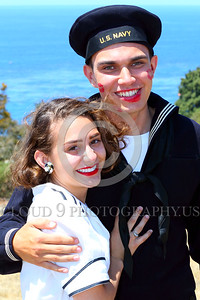 HR-WWIIUSN 00012 The magical love chemistry between this young US Navy World War II era sailor historical re-enactor and his real life girlfriend is obvious by Peter J Mancus