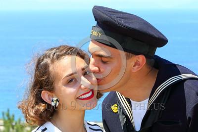 HR-WWIIUSN 00028 A sailor's loving sweet gentle kiss by Peter J Mancus