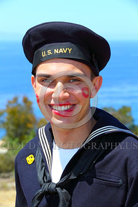 HR-WWIIUSN 00025 A happy US Navy WWII era historical re-enactor sailor by Peter J Mancus