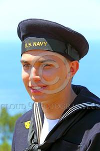 HR-WWIIUSN 00001 A young US Navy World War II era sailor historical re-enactor by Peter J Mancus