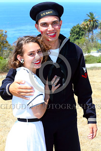 HR-WWIIUSN 00008 The magical love chemistry between this young US Navy World War II era sailor historical re-enactor and his real life girlfriend is obvious by Peter J Mancus